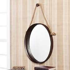 Ebay Decorative Wall Mirrors by Wall Mirror Hanging Oval Round Rustic Bathroom Entryway