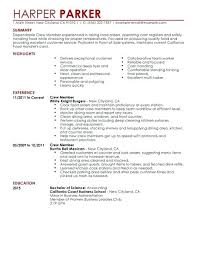 Example Of Resume Mcdonalds Fruityidea