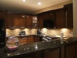 Kitchen Backsplash Ideas For Dark Cabinets by Dark Cabinets Light Countertops Backsplash Memsaheb Net