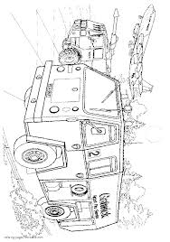Fire Truck IVECO. Coloring Sheet || COLORING-PAGES-PRINTABLE.COM