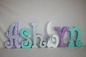 Items similar to Custom wood letters Nursery decor 6 letter set