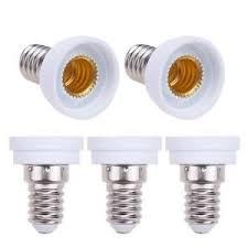 5pcs e14 to e12 led light bulb base holder l socket adapter