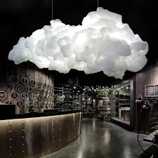 moderne schwimm wolke led anhänger lichter wohnzimmer esszimmer led anhänger kronleuchter le bar shop decor hängen leuchten
