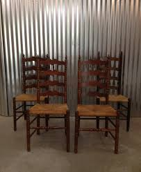 Tall Ladder Back Chairs With Rush Seats by Vintage Ladder Back Chairs Wood Slat Straight Ladder Back Chairs