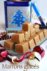 sucre à la crème au sirop de marrons glacés
