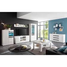modernes hochglanz wohnzimmer set slivona 6 teilig