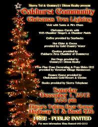 Pine Cone Christmas Tree Lights by Oakhurst Area Chamber Of Commerce Oakhurst Community Christmas