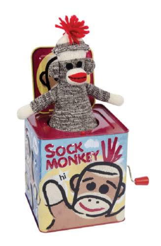 Schylling 117060 Sock Monkey Jack In The Box