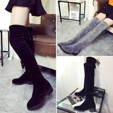 womens knee high boots women slim leg flat tall boots ladies faux