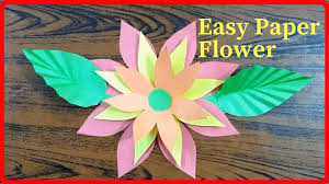 How To Make Easy Paper Flowers Step By