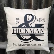 Personalized Mr and Mrs Throw Pillow
