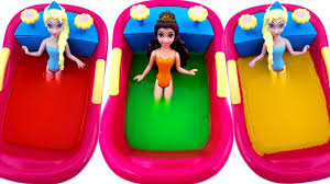Inflatable Bath For Toddlers by Lear Colors Slime Disney Princess Bath Time With Slime Video For