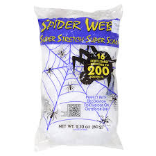 Scene Setters Halloween Uk by Deluxe Super Stretch Scary White Spider Web Spooky Halloween