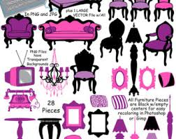Furniture Clip Art FRENCH Chair Clipart Chandelier