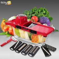 Vegetable Cutter Mandoline Slicer 6 Blades Julienne Grater Fruit Peeler Potato Onion Tools Kitchen Accessories Cooking