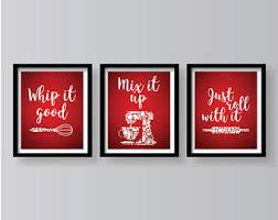 Red Kitchen Art