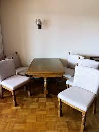 wohnzimmer esstisch ausziehbar mit 5 stühle massivholz