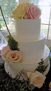 3 Tier Rustic Textured Buttercream Wedding Cake Decorated With Fresh Flower Delivered At Historic Shady Lane Cakes Machester PA
