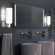 opalglas wandleuchte in nickel matt für ihr badezimmer space
