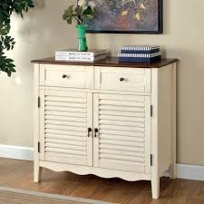 Beautiful Living Room Accent Cabinet Decoration Ideas White Solid Wood 2 Drawer Cupboards Brown
