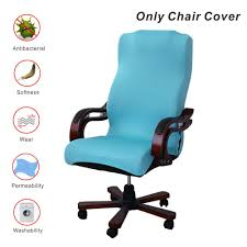 My Decor Office Chair Covers, Removable Cover Stretch Cushion Resilient  Fabric Computer Chair/Desk Chair/Boss Chair/Rotating Chair/Executive Chair  ... Leather Office Chair Cover Beandsonsco View Photos Of Executive Office Chair Slipcovers Showing 15 Melaluxe Cover Universal Stretch Desk Computer Size L Saan Bibili Help Gloves Shihualinetm Cloth Pads Removable Gallery 12 20 Size Washable Arm Slipcover Rotating Lift Covers Chairs Without Arms Ikea Ding Room Slipcover Eleoption Seat High Back Large For Swivel Boss Lms C Best With Lumbar Support Small