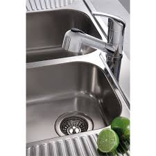 Oliveri Sinks Nu Petite by Oliveri 1430mm Double Centre Bowl Petite Sink Bunnings Warehouse