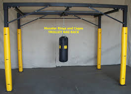 Boxing Heavy Bag Ceiling Mount by Trolley Bag Racks By Monster Rings And Cages When Your Gym Or