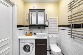 small bathroom with laundry ideas image of bathroom and closet