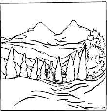 Perfect Landscape Coloring Pages 41 With Additional Free Kids