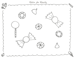 Chocolate Candy Printable Candyland Gumdrop Coloring Page