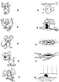 Link Each Animal With Its House Coloring Page