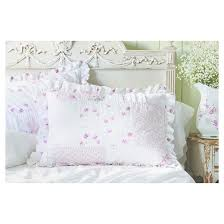Simply Shabby Chic Curtains Pink Faux Silk by Pink U0026 White Ditsy Patchwork Pillow Sham Simply Shabby Chic