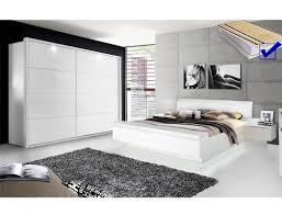 schlafzimmer 20d weiß teils hochglanz bett komplett schrank led expendio