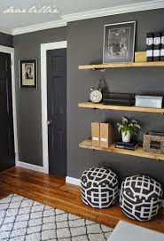 Benjamin Moore Kendall Charcoal Great Colors And Shelving For A Guys Room On The Walls Trim Is BM Simply White