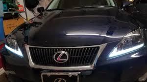 drl projector headlights lexus is 250 350 isf