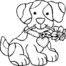 Cute Puppy Coloring Pages For Girls Printable