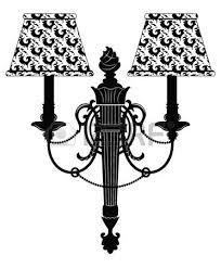 Baroque Elegant Rich Wall Lamp With OrnamentsVector Royal Style Vector