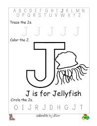 Printable Letter J Worksheets For Kindergarten And Coloring Pages Preschool