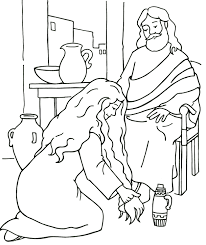 Jesus Forgives A Woman Luke 7 From Thru The Bible Coloring Pages