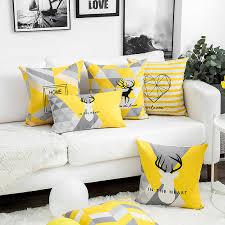 ins net rot gelb elch kissen nordic geometrische kissen set