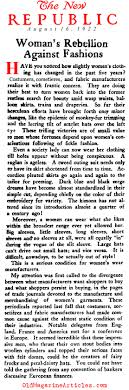 The Plot To Restore Corset New Republic 1922