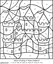 Worksheets Color By Number Sand CastleIm Not All About But Sometimes A Time Filler Is Necessary