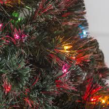 Fiber Optics Christmas Trees Artificial by 5 Ft Fiber Optic Evergreen Led Christmas Tree With 16 In Stand