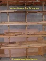 how to make a lumber storage rack workshop lumber racks