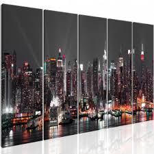 dekoration leinwand bilder new york skyline abstrakt