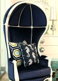 Nautical Chair Covers Navy And White Balloon