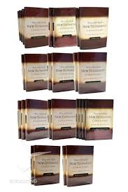 Buy Complete New Testament Commentary Set 33 Vols Macarthur Series By John Online