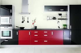 Red And Black Chef Kitchen Decor White Ideas Dark Oak Cabinets