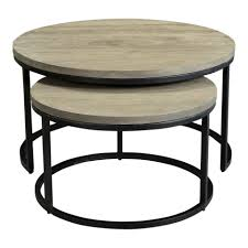 Drew Round Nesting Coffee Tables (Set Of Two) — Native Citizen Nesting Tables Set Of 2 Havsta Gray Josef Albers Tables 4 Pavilion Round Set Zib Gray Piece Oslo Retail 3 Modern Reflections In Blackgold Two Natural Pine And Grey Zoa Nesting Tables Set Of Lack Black White Contemporary Solid Wood Maitland Smith Faux Bamboo