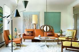 furniture contemporary mid century living room with brown